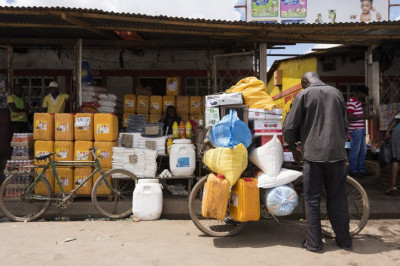 The informal sector accounts for 70% of all economic operations in the DRC